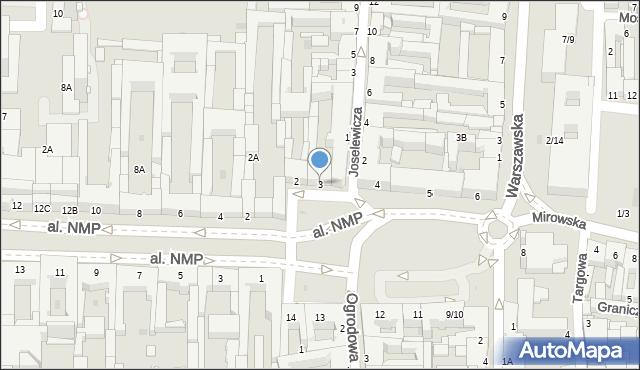 Częstochowa, Plac Daszyńskiego Ignacego, 3, mapa Częstochowy