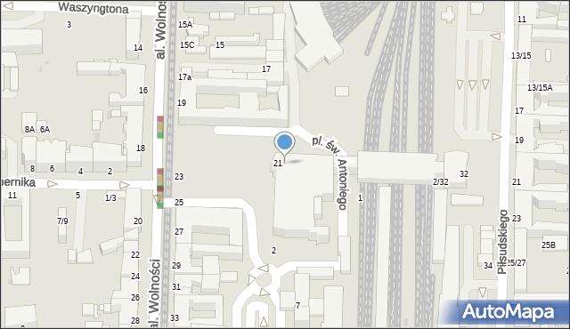 Częstochowa, Plac Rady Europy, 1, mapa Częstochowy