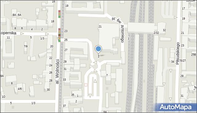 Częstochowa, Plac Rady Europy, 2, mapa Częstochowy