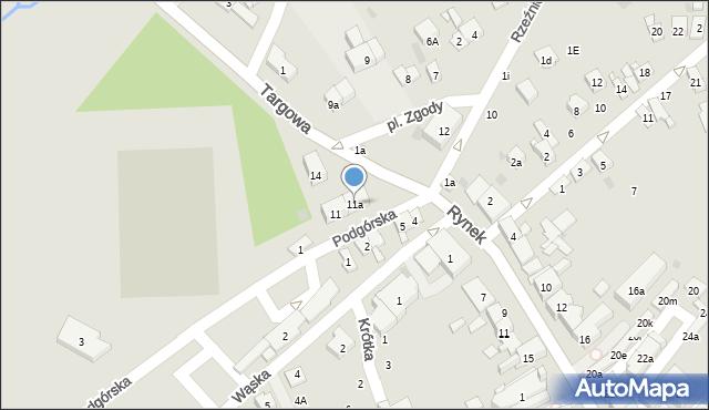 Dobczyce, Plac Zgody, 11a, mapa Dobczyce
