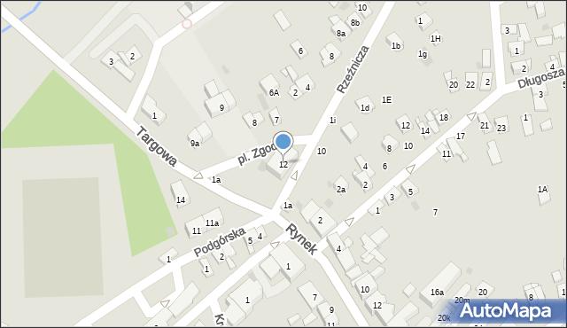 Dobczyce, Plac Zgody, 12, mapa Dobczyce