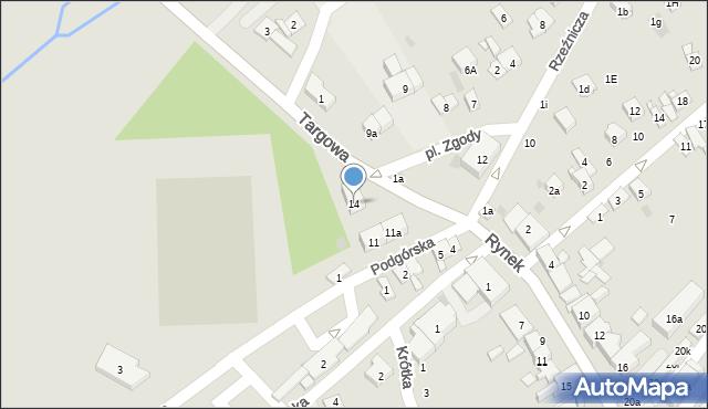 Dobczyce, Plac Zgody, 14, mapa Dobczyce