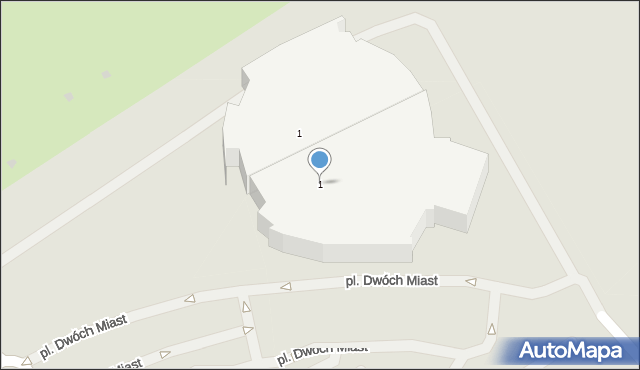 Gdańsk, Plac Dwóch Miast, 1, mapa Gdańska