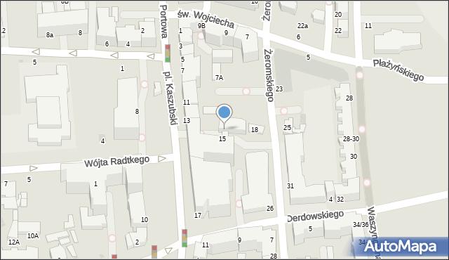 Gdynia, Plac Kaszubski, 15a, mapa Gdyni