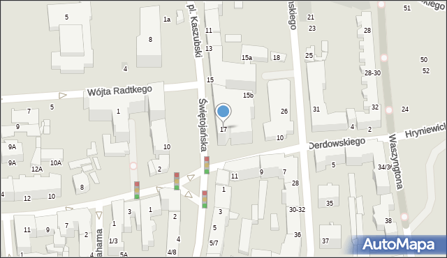 Gdynia, Plac Kaszubski, 17, mapa Gdyni