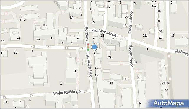 Gdynia, Plac Kaszubski, 7, mapa Gdyni