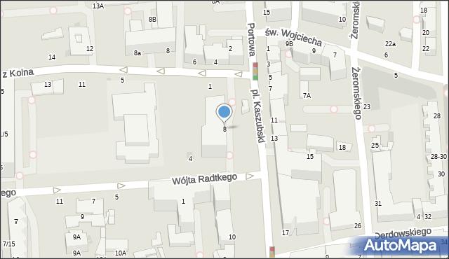 Gdynia, Plac Kaszubski, 8, mapa Gdyni