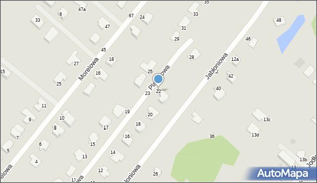 Grudziądz, Platanowa, 22, mapa Grudziądza