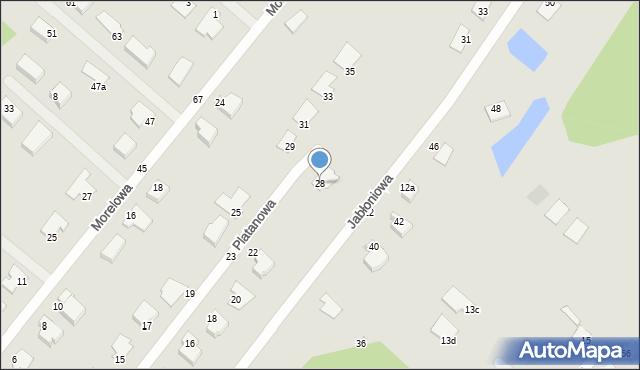 Grudziądz, Platanowa, 28, mapa Grudziądza