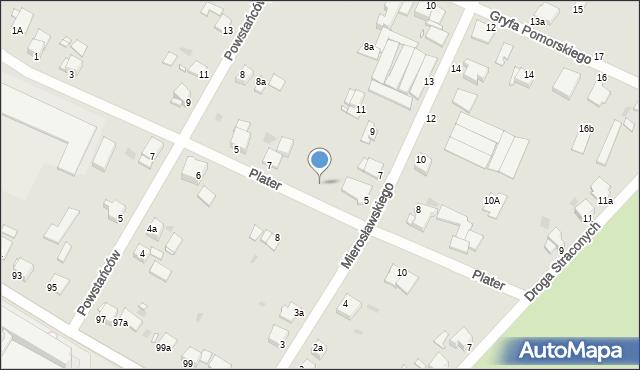 Grudziądz, Plater Emilii, 9, mapa Grudziądza