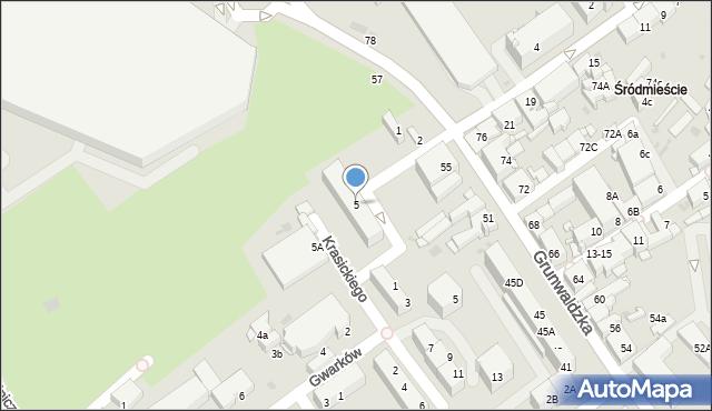 Jaworzno, Plac Górników, 5, mapa Jaworzno