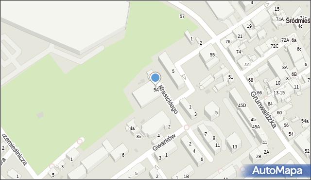 Jaworzno, Plac Górników, 5A, mapa Jaworzno