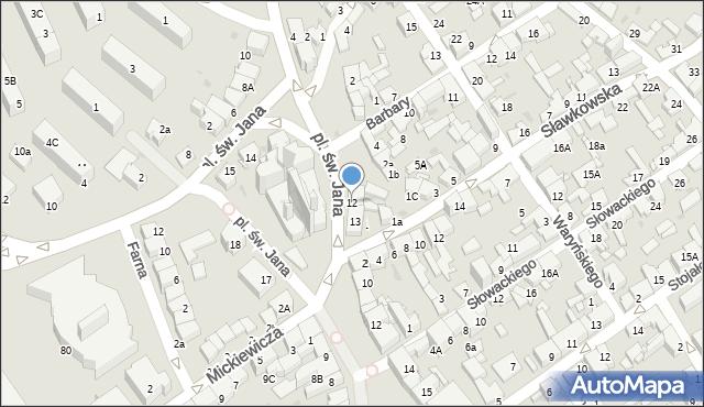 Jaworzno, Plac św. Jana, 12, mapa Jaworzno