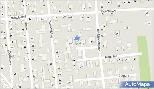 Jedwabne, Plac 250-lecia, 10, mapa Jedwabne