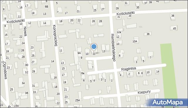 Jedwabne, Plac 250-lecia, 11, mapa Jedwabne