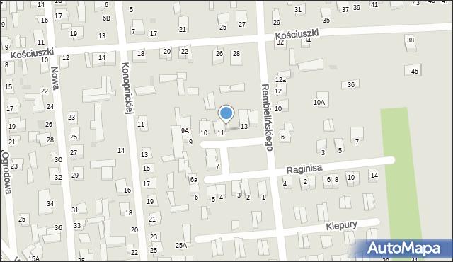Jedwabne, Plac 250-lecia, 12, mapa Jedwabne