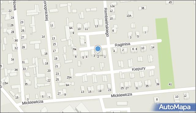 Jedwabne, Plac 250-lecia, 2, mapa Jedwabne