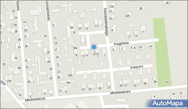 Jedwabne, Plac 250-lecia, 3, mapa Jedwabne