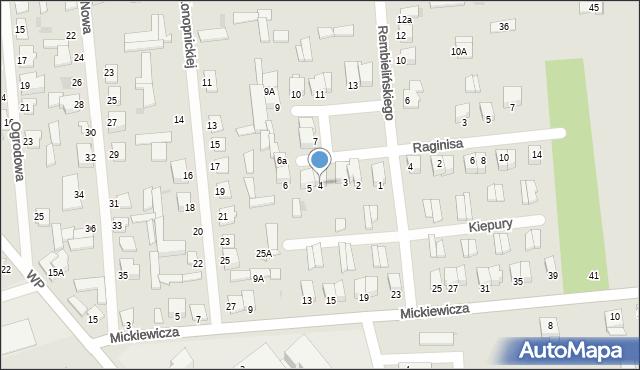 Jedwabne, Plac 250-lecia, 4, mapa Jedwabne