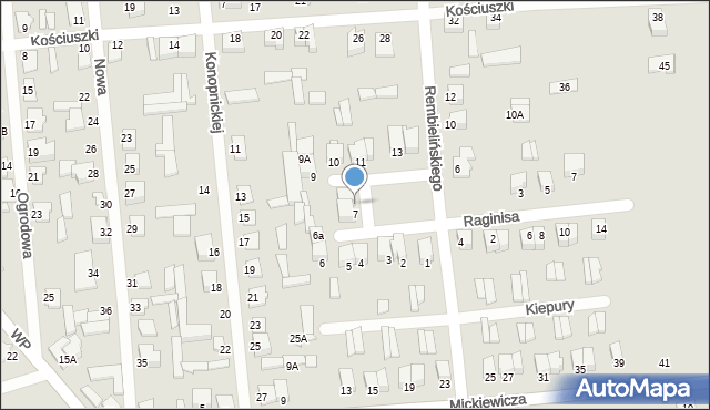 Jedwabne, Plac 250-lecia, 8, mapa Jedwabne