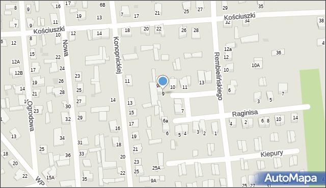 Jedwabne, Plac 250-lecia, 9, mapa Jedwabne