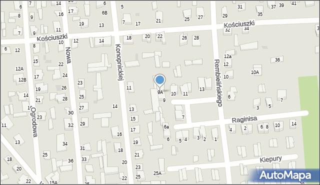 Jedwabne, Plac 250-lecia, 9A, mapa Jedwabne