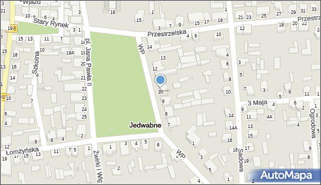 Jedwabne, Plac Jana Pawła II, 10, mapa Jedwabne