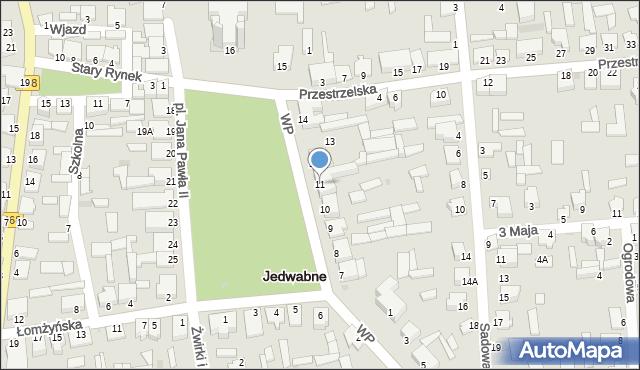 Jedwabne, Plac Jana Pawła II, 11, mapa Jedwabne