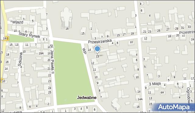 Jedwabne, Plac Jana Pawła II, 13, mapa Jedwabne