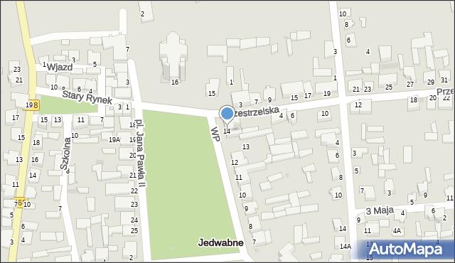 Jedwabne, Plac Jana Pawła II, 14, mapa Jedwabne