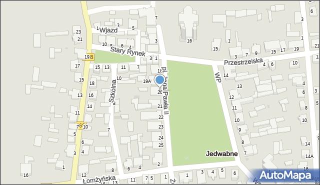 Jedwabne, Plac Jana Pawła II, 20, mapa Jedwabne