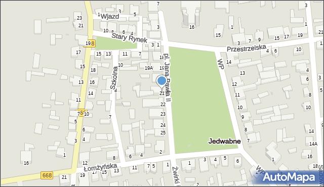 Jedwabne, Plac Jana Pawła II, 21, mapa Jedwabne
