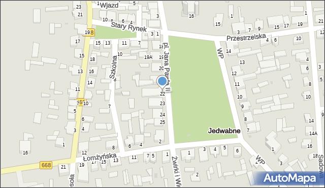 Jedwabne, Plac Jana Pawła II, 22, mapa Jedwabne