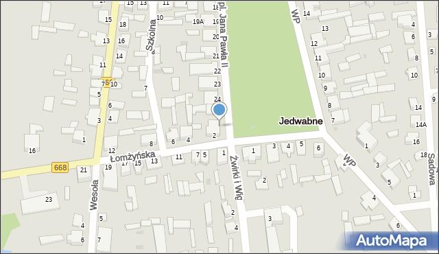 Jedwabne, Plac Jana Pawła II, 26, mapa Jedwabne