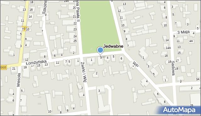 Jedwabne, Plac Jana Pawła II, 3, mapa Jedwabne