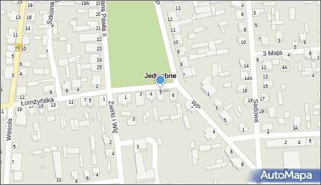 Jedwabne, Plac Jana Pawła II, 5, mapa Jedwabne
