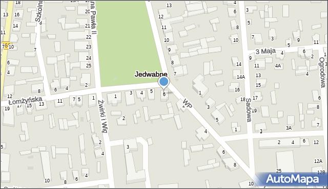 Jedwabne, Plac Jana Pawła II, 6, mapa Jedwabne