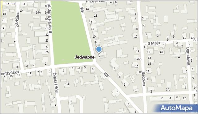 Jedwabne, Plac Jana Pawła II, 7, mapa Jedwabne