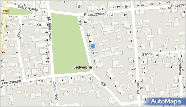 Jedwabne, Plac Jana Pawła II, 9, mapa Jedwabne
