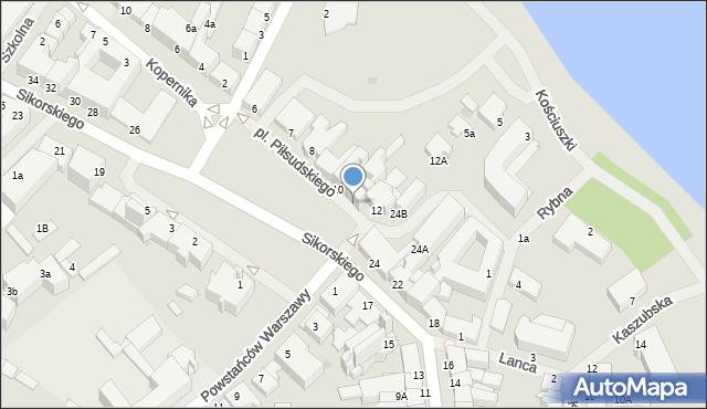 Kętrzyn, Plac Piłsudskiego Józefa, marsz., 11, mapa Kętrzyn