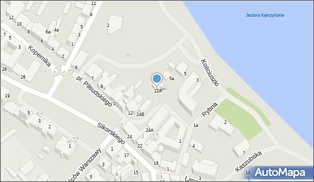 Kętrzyn, Plac Piłsudskiego Józefa, marsz., 12A, mapa Kętrzyn