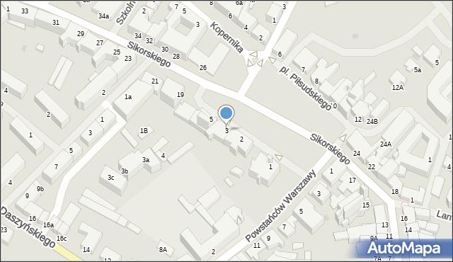 Kętrzyn, Plac Piłsudskiego Józefa, marsz., 3, mapa Kętrzyn