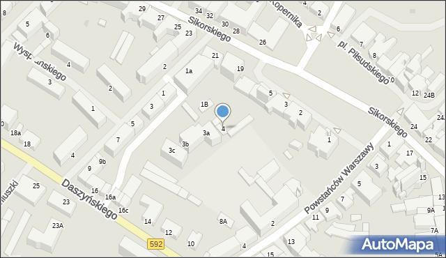Kętrzyn, Plac Piłsudskiego Józefa, marsz., 4, mapa Kętrzyn