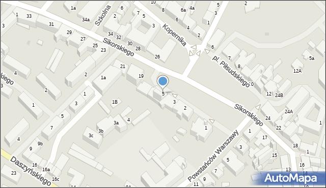 Kętrzyn, Plac Piłsudskiego Józefa, marsz., 5, mapa Kętrzyn