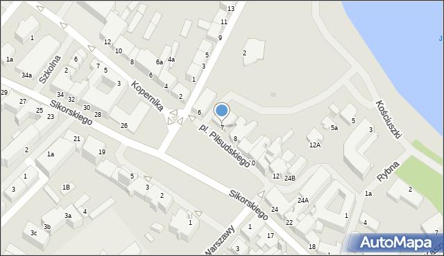 Kętrzyn, Plac Piłsudskiego Józefa, marsz., 7, mapa Kętrzyn