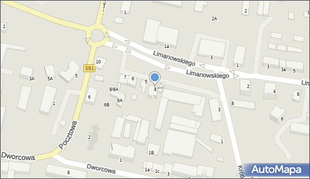 Kętrzyn, Plac Słowiański, 4, mapa Kętrzyn