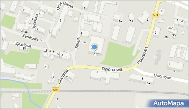 Kętrzyn, Plac Zamkowy, 1, mapa Kętrzyn