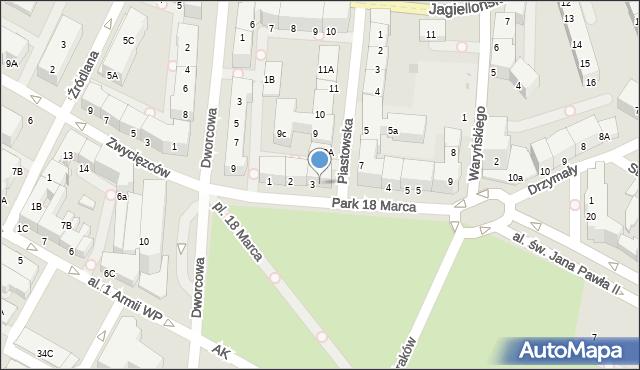 Kołobrzeg, Plac 18 Marca, 3, mapa Kołobrzegu