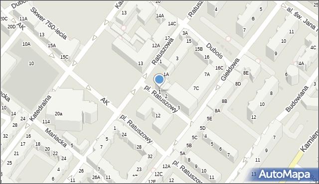 Kołobrzeg, Plac Ratuszowy, 1, mapa Kołobrzegu