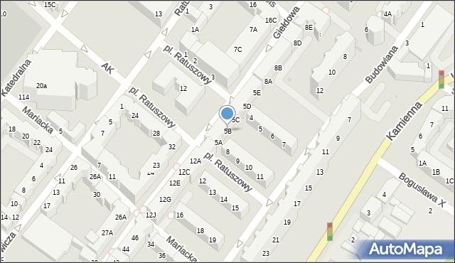Kołobrzeg, Plac Ratuszowy, 5B, mapa Kołobrzegu